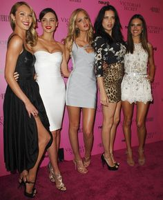 Miranda Kerr, Erin Heatherton, Alessandra Ambrosio, Adriana Lima, and Candice Swanepoel at Victoria's Secret 6th Annual 'What Is Sexy? List: Bombshell Summer Edition' event held at The Beverly in Los Angeles, California on May 12, 2011