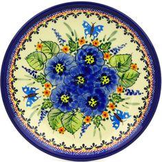 Polish Pottery 8-inch Plate Boleslawiec Stoneware Polmedia H9385E