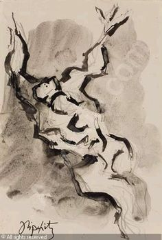 jacques lipchitz sculptures | LIPCHITZ Jacques,Sculpture Study of a Figure with Raised Arms,Swann ...