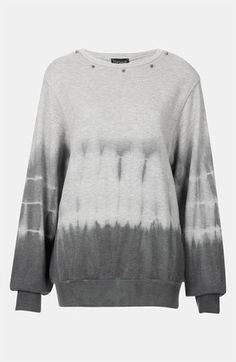 Topshop Studded Tie Dye Sweatshirt available at Nordstrom