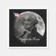 Man in the Moon Paper Napkins Party Napkins, Ecru Color, Moon, Paper, The Moon