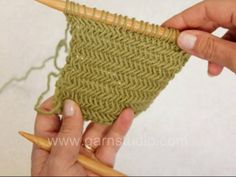 herringbone knitting stitch video tutorial
