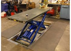 In floor Motorcycle Lift - The Garage Journal Board