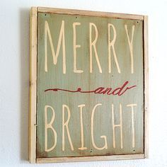 Merry and Bright DIY Sign with printable template and video signs Christmas Time Is Here, Merry Little Christmas, Christmas Love, Rustic Christmas, All Things Christmas, Winter Christmas, Merry Christmas Signs, Christmas Ideas, Norwegian Christmas
