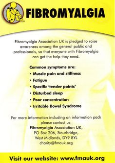 Fibromyalgia - The symptoms are similar to hypothyroidism - which is  very treatable, through diet and maybe medication!