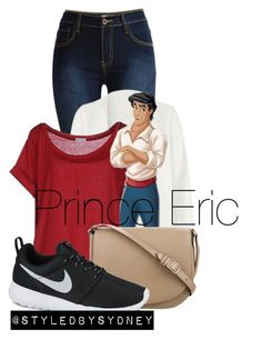 """""""Fall Prince Eric ; THE LITTLE MERMAID"""" by styledbysydney ❤ liked on Polyvore featuring Non, Kor@Kor, CÉLINE and NIKE"""