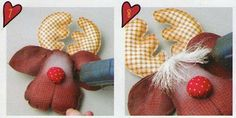 Labores navideñas en tela  Si te gustan los renos para está navidad ,te invitamos a hacer paso a paso unos bonitos renos de tela ,estos será...