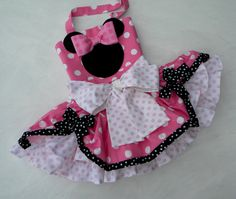 Pink Minnie Mouse Party-Pageant Costume Dress, Super Full Ruffle Twirl Skirt -Over the Top- in sizes 12 month through 5 on Etsy, $159.00