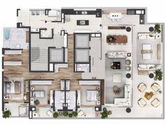 Classic House Design, Small House Design, Home Room Design, Home Design Plans, Drawing House Plans, Architectural Floor Plans, Small House Floor Plans, Model House Plan, Apartment Floor Plans