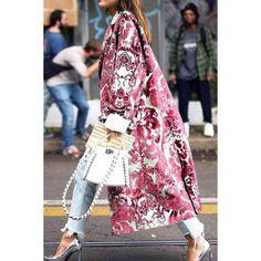Floral Pattern Printed Long Sleeve Coat - ootdmw.com News Fashion, Look Fashion, Autumn Fashion, Fashion Online, Fashion Coat, Fashion 2018, Spring Fashion, Fashion Beauty, Fashion Tips