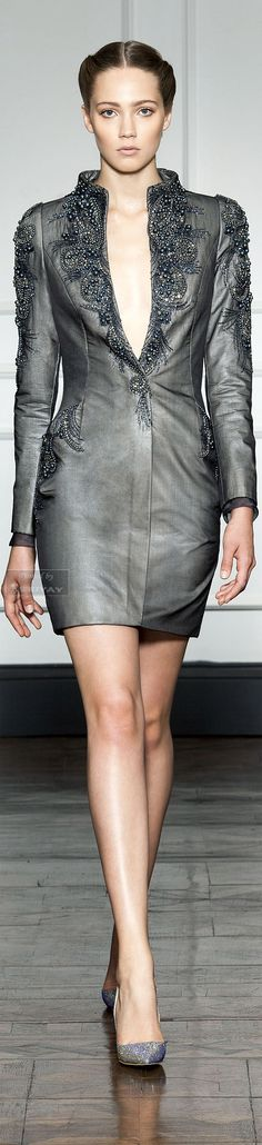 (Dilek Hanif F/W 2014-15) Grey is more forgiving than black, and may often appear a more sophisticated color choice. Find your perfect grey.