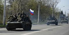 Karavanas The Blog: Οχήματα με ρωσική σημαία στην ανατολική Ουκρανία, ...