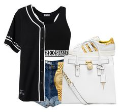 """""""I Want You To Be Mine Again Baby..I Know My Lifestyle Is Driving You Crazy"""" by jaysational ❤ liked on Polyvore featuring adidas, Stampd, Rolex and MICHAEL Michael Kors"""