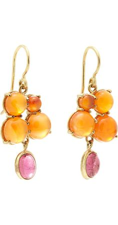 Judy Geib Carnelian, Pink Tourmaline & Gold Drop Earrings -  - Barneys.com