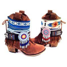 Tribal Cowboy Boots Wilde Boots Born Wilde  by WildeFlowerDesign, $190.00