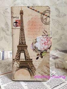 Retro Flower La Tour Eiffel Flip Pouch Case Cover for iPhone Samsung Card Slots | eBay