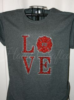 Fire Department LOVE Shirt Customizable Glitter by HandCraftedHC, $25.00