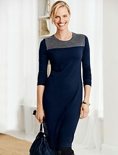 Talbots - Colorblocked Sweater Dress | New Arrivals |