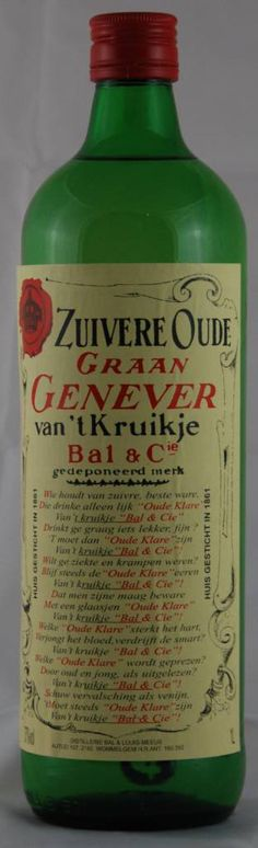 Pure jenever, great one.