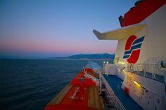 Enjoying the sunset with Superfast Ferries. Fair Grounds, Wanderlust, Sunset, Fun, Travel, Ships, Viajes, Destinations, Sunsets