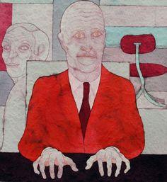 Un titolo che è tutto un programma: 'Impiegati, vil razza dannata'. Lo ha scelto il pittore triestino Ugo Pierri per illustrare un tema che conosce bene, avendo lavorato per anni come impiegato d'azienda. La vita del travet, diligente e disperato, sempre impegnato a digitare sulla tastiera. &