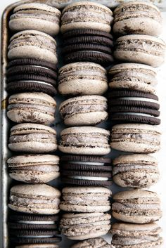 Cookies and Cream Macarons: everyone's favorite cookie just got a thousand times better. @ Broma Bakery