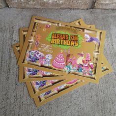 Animal Jam Birthday Invitation by LiveBrightDesigns on Etsy