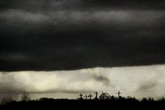 normandie cimetiere ciel paysage eure sombre orage
