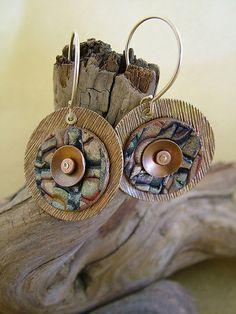 julie picarello | Riveted Earrings by julie_picarello, via Flickr | Earrings