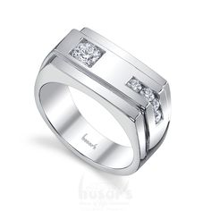 Unique men's ring with diamonds