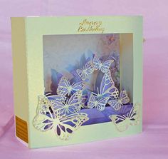 3D SVG Butterlfy Box Card DIGITAL download by SVGHUT on Etsy