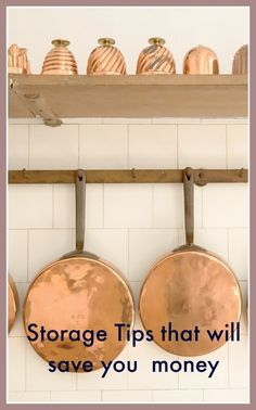 Useful storage tips that will save you money. Perfect for a thrifty home that also want s a decluttered look