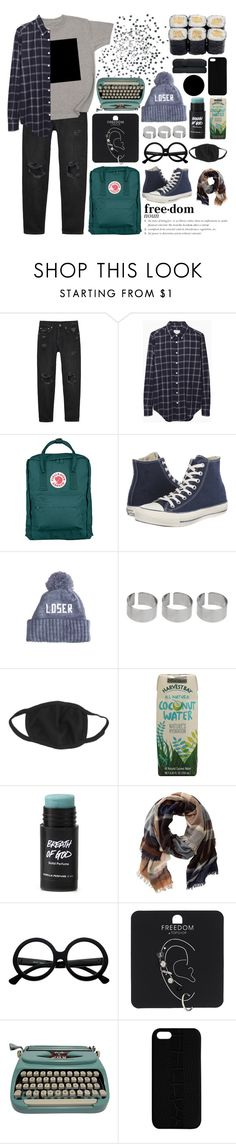 """2016年11月6日"" by matsue ❤ liked on Polyvore featuring Monki, Band of Outsiders, Fjällräven, Converse, Topshop, ASOS, TravelSmith, Retrò, Maison Takuya and kenzodaily"