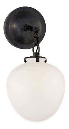KATIE SMALL SCONCE WITH ACORN GLASS