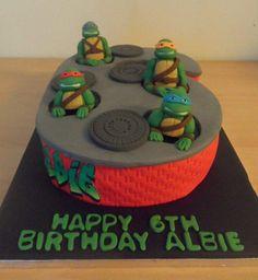 Teenage Mutant Ninja Turtles cake - cake by FairyDelicious Ninja Turtle Birthday, Ninja Turtle Party, Ninja Turtles, 5th Birthday, Birthday Ideas, Birthday Cakes, Happy Birthday, Tmnt Cake, Gateaux Cake