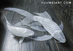 Some updates on the paper koi lanterns that I've been designing! I've been working with a manufacturer for the past months to find the right paper to make these out of. The existing paper they offered. Origami Paper Art, 3d Paper Crafts, Paper Crafting, Koi, Cardboard Sculpture, Fish Sculpture, Flowers To Go, Fish Lamp, Plastic Bottle Art