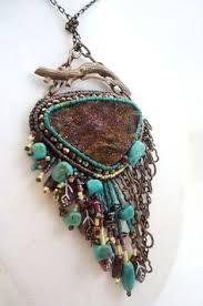 bead embroidery necklace - Buscar con Google