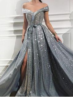 Prom dresses sleeveless - Sparkly Sequins Off the Shoulder Sleeveless Prom Dress Gorgeous Sweetheart Front Slit Shinny Long Prom Dress – Prom dresses sleeveless Prom Dresses For Sale, A Line Prom Dresses, Evening Dresses, Prom Gowns, Formal Dresses, Bridesmaid Dresses, Wedding Dresses, Dress Prom, Cheap Dresses