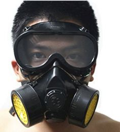 Vktech Industrial Gas Chemical Anti-Dust Respirator Mask Goggles Set (Style A) - Survival By Southern Zoomer Airsoft, Safety Mask, Respirator Mask, Elastic Ribbon, Silica Gel, Full Face, Sport, Mask For Kids, Mask Design