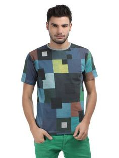 Voi Jeans Men Multi-Coloured Print T-shirt | Myntra via @Myntra.com PRODUCT CODE: 126999  Rs. 899
