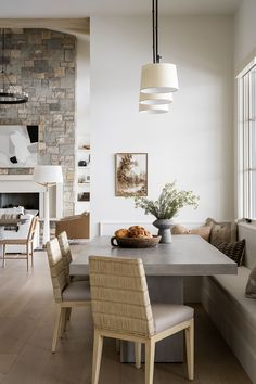 PC Contemporary Project: The Dining Space, Kitchen, & Dining Nook Kitchen Nook, Space Kitchen, Studio Mcgee, Dining Nook, Kitchen Styling, Upholstered Chairs, Kitchen Design, Sweet Home, Interior Design
