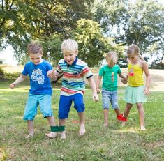 Maybe something for the rooftop playground - races with Dads :) - Fiona x Three-legged race Fun Activities For Kids, Fun Games, Party Games, Games For Kids, Summer Camp Games, Camping Games, Field Day Games, Family Reunion Games, Family Fun Day