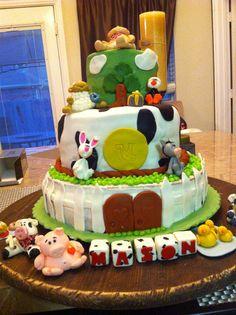 Mason's 1st birthday farm/barnyard cake
