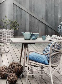 altan, grått, blått, korgstol, broste copenhagen