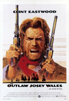 The Outlaw Josey Wales - starring Clint Eastwood - Classic Western Movie Poster Print - or - * The large poster size fits into a standard sized frame available at Target, Walmart etc. Other Clint Eastwood movies: Clint Eastwood Poster, Old Movies, Vintage Movies, Vintage Posters, Will Sampson, John Vernon, Chief Dan George, Eastwood Movies, Poster Vintage