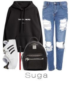 Ideas for sweatshirt outfit baddie Tomboy Outfits, Kpop Fashion Outfits, Swag Outfits, Nike Outfits, Simple Outfits For School, Outfits For Teens, Korean Outfits School, Korean Outfits Cute, Bts Inspired Outfits