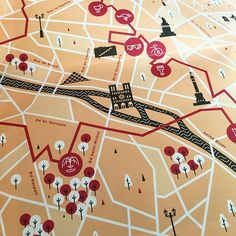 Mail day! Close up shot of a map illustration of Paris for the Levi's Commuter magazine. Thanks to the awesome group over at TCOLondon for the opportunity! #levis #paris #illustration #map