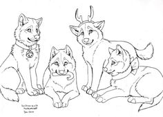 FREE Wolf Gift Lineart by NatsumeWolf on DeviantArt