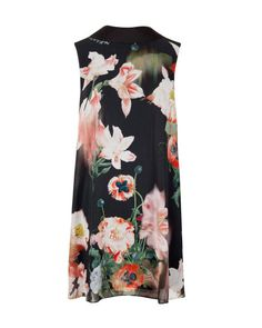 Opulent Bloom printed reversible tunic - Black | Dresses | Ted Baker