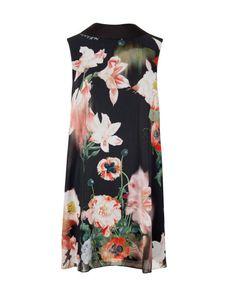 Opulent Bloom printed reversible tunic - Black | Dresses | Ted Baker